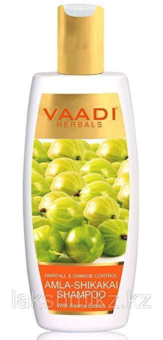 Шампунь против выпадения волос Амла &Шикакай Ваади/ Vaadi Herbals Amla Shikakai Shampoo. 350ml