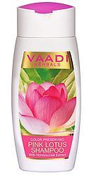 Шампунь с розовым лотосом и экстрактом жимолости - для сохранения цвета, Vaadi.350 мл