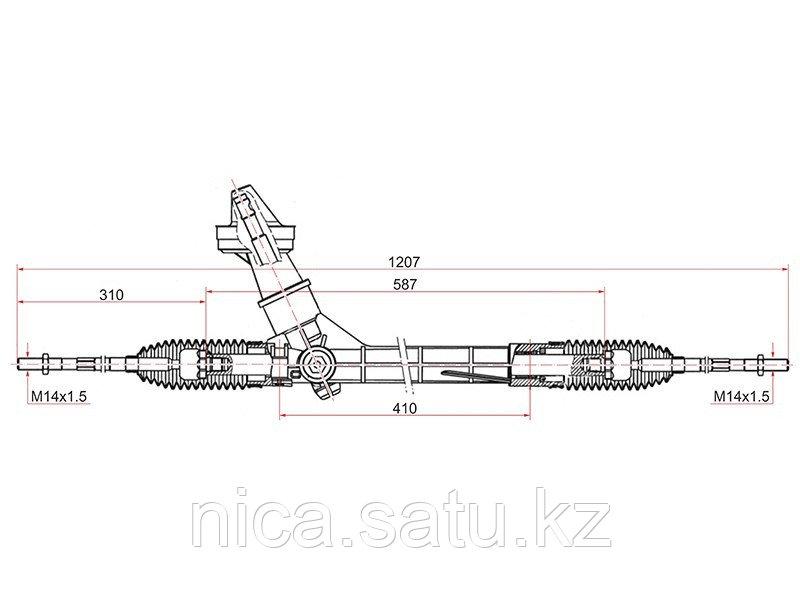 Рейка рулевая SKODA RAPID 11- LHD
