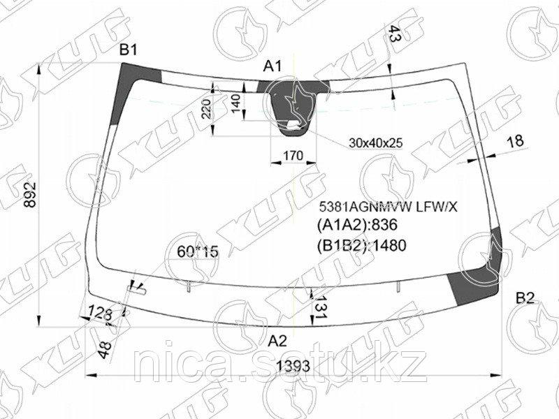 Стекло лобовое +дд в клей MERCEDES BENZ A CLASS (W176)/GLA (X156)/CLA CLASS (X117) 15-