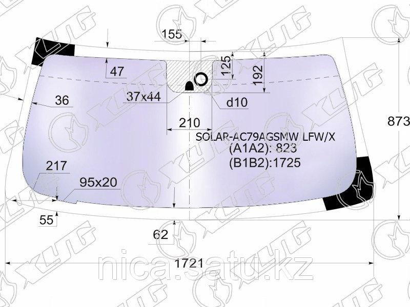 Стекло лобовое атермальное +дд в клей MAZDA 6 4/5D SED/WGN 12-