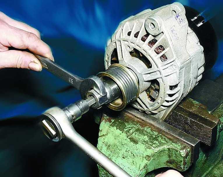 Демонтаж муфт, шкивов, шестерен, выпресовка статора из корпуса