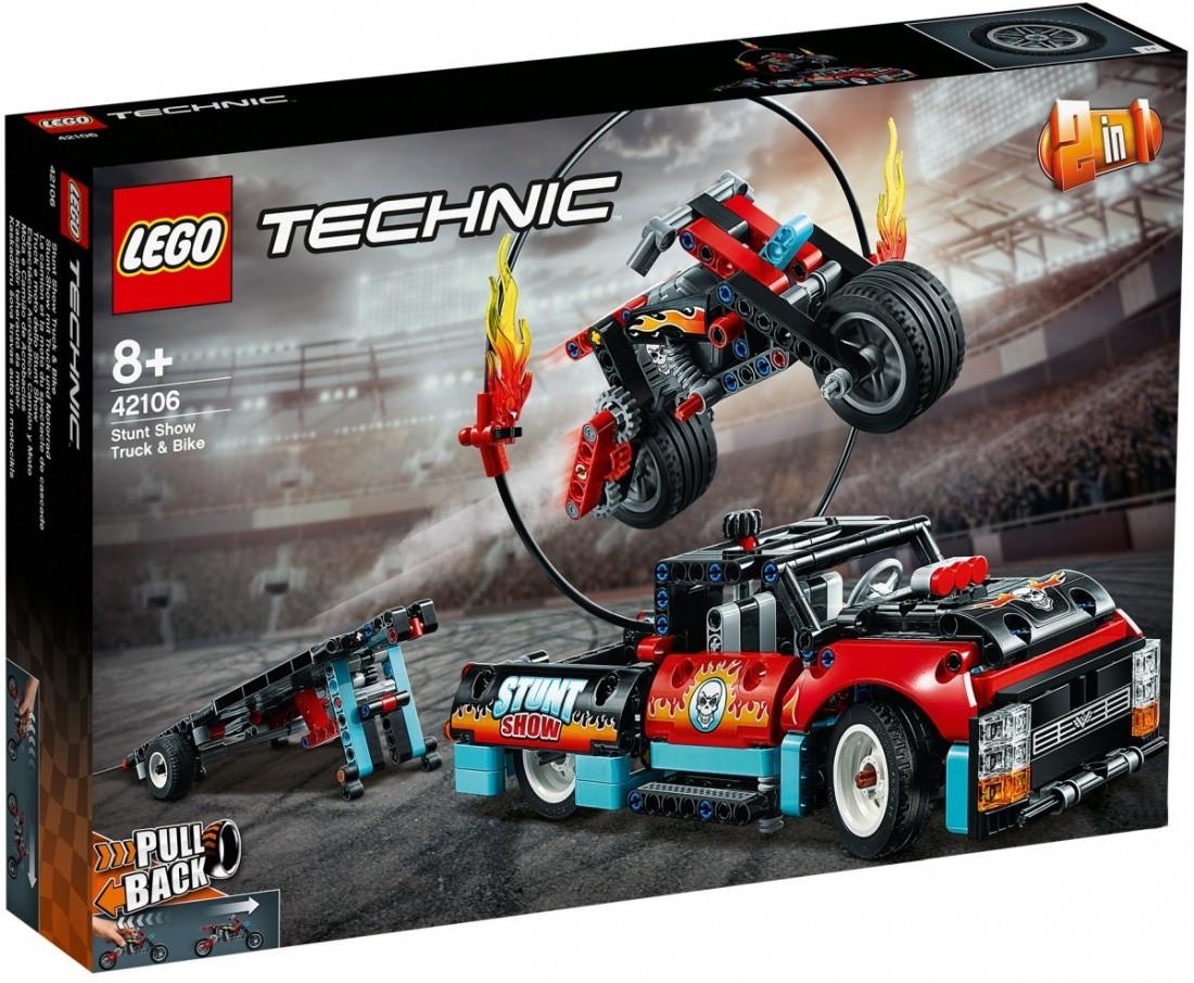 42106 Lego Technic Шоу трюков на грузовиках и мотоциклах, Лего Техник