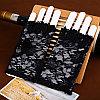 Ажурные перчатки с открытыми пальчиками, чёрные, фото 4