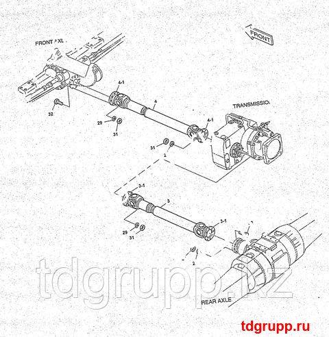2260-9057 Вал карданный передний Doosan