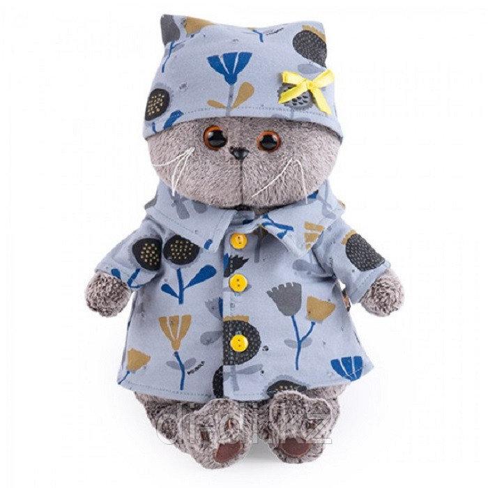 Мягкая игрушка Басик в голубой пижаме в цветочек 30 см Budi Basa