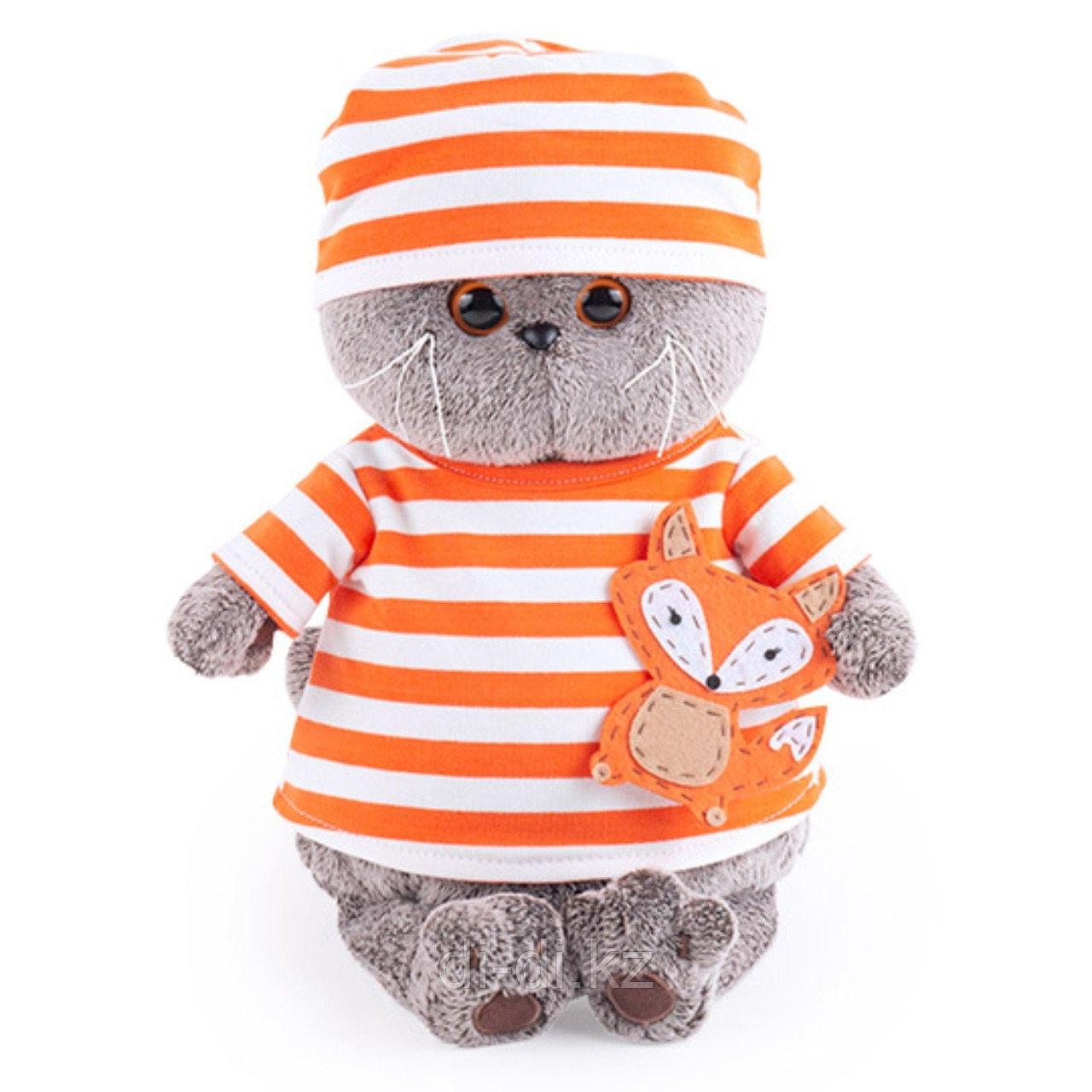 Мягкая игрушка Budi Basa Басик в полосатой футболке с лисенком