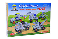 Немного помятая!!! 810ABCD Металлический конструктор Combined toys 35*24см