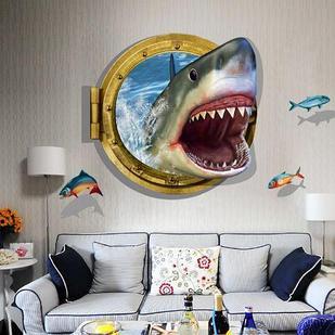 """Наклейка настенная 3D """"Акула"""""""