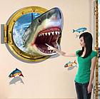 """Наклейка настенная 3D """"Акула"""", фото 2"""