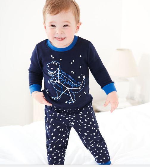 Пижама с динозавром, темно-синяя Jumping baby 2 года.