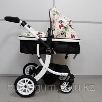 Детская коляска-трансформер 2в1 Aimile Wingoffly (на белой раме), Китай