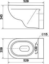 Унитаз консольный (подвесной) Стиль-N, фото 2