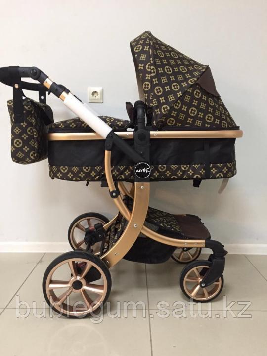Детская коляска-трансформер 2в1 Aimile Louis Vuitton и Gucci