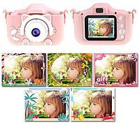 Детский настоящий фотоаппарат, игры, видео, фотосъемка, функции на русском яз.