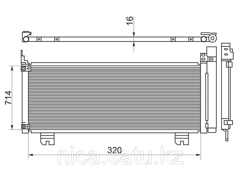 Радиатор кондиционера LEXUS RX 450H 09-