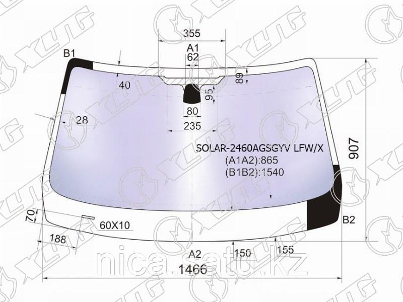 Стекло лобовое атермальное в клей BMW X1 E84 09-15 (Solar-X  защита от ультрафиолета)