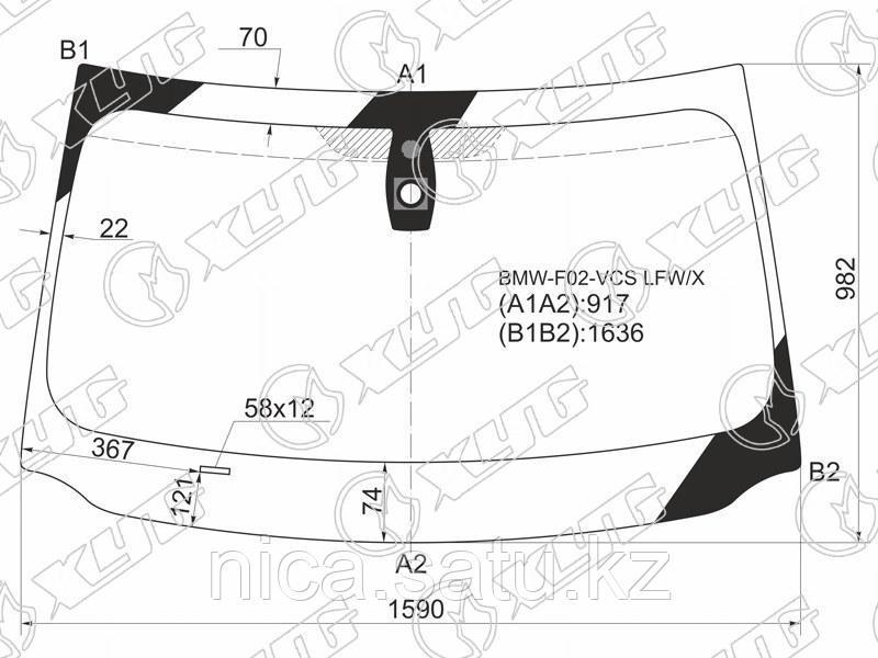 Стекло лобовое +дд в клей BMW 7-SERIES F01/02 08-15