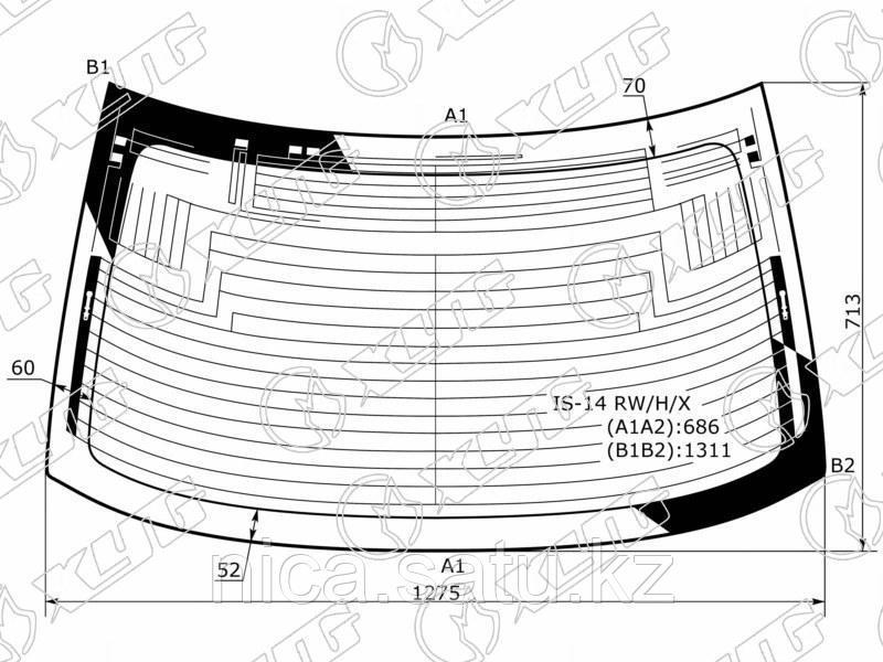 Стекло задннее с обогревом в клей LEXUS IS III (250/350) 4D 14-