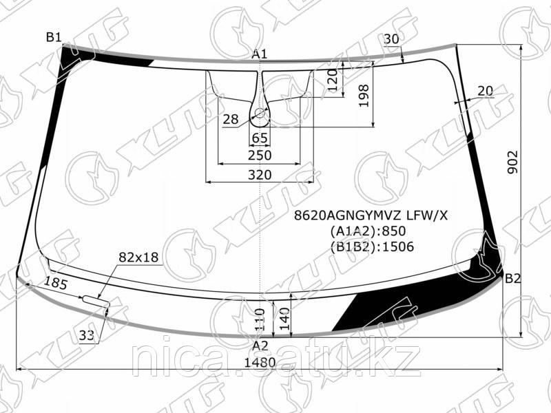 Стекло лобовое+дд в клей AUDI A3 4D SED 16-
