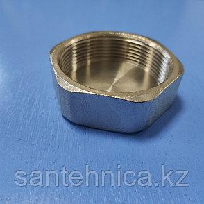"""Заглушка с внутренней резьбой латунь никель Ду 50 G2"""" HLV, фото 2"""