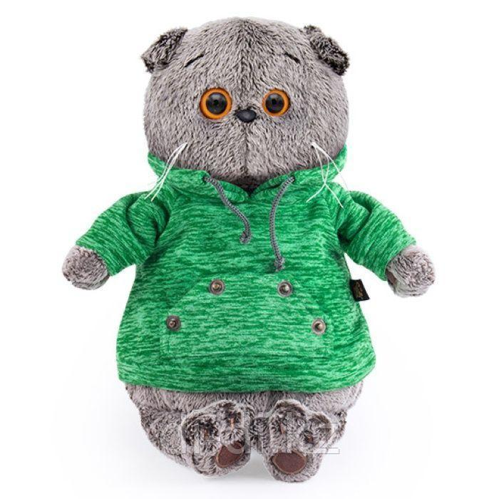 Басик в зеленой толстовке с карманом-кенгуру