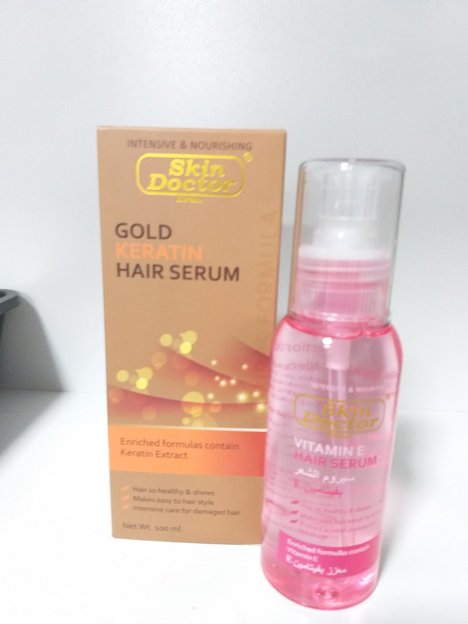 Золотая сыворотка для волос, с кератином,100 мл,Skin Doctor,Gold Keratin Hair Serum