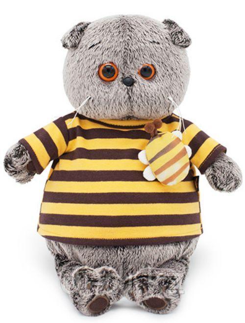 Басик в полосатой футболке с пчелой 19см