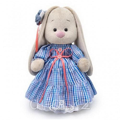 Мягкая игрушка Зайка Ми в платье в стиле Кантри 25 см коллекция Город