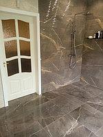 Реконструкция ванной комнаты с витражным окном. Размер = 4,3 х 3,8 х 3,3 м. Адрес: г. Иссык. 3