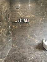 Реконструкция ванной комнаты с витражным окном. Размер = 4,3 х 3,8 х 3,3 м. Адрес: г. Иссык. 4