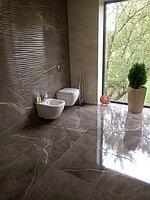Реконструкция ванной комнаты с витражным окном. Размер = 4,3 х 3,8 х 3,3 м. Адрес: г. Иссык. 5