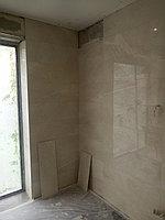 Реконструкция ванной комнаты с витражным окном. Размер = 4,3 х 3,8 х 3,3 м. Адрес: г. Иссык. 17