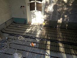 Реконструкция ванной комнаты с витражным окном. Размер = 4,3 х 3,8 х 3,3 м. Адрес: г. Иссык. 21