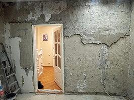 Реконструкция ванной комнаты с витражным окном. Размер = 4,3 х 3,8 х 3,3 м. Адрес: г. Иссык. 33