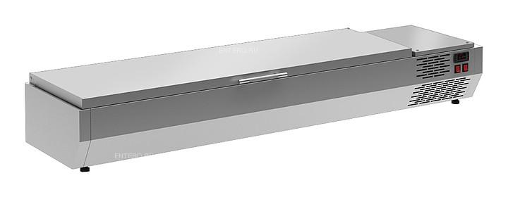 Витрина холодильная Carboma A40 SM 1,6 0430 (VT3-G) (7 GN 1/3) c крышкой