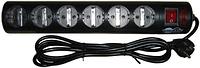Сетевой фильтр Tripp-lite GR16-1379T, 6 розеток, 3 м., 220-240В, 13A, Чёрный