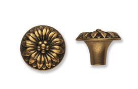 Ручка-кнопка, 'Louis XVI' D30мм, золото Валенсия., винт,