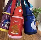 Детский термос-поильник в термо чехле, цвет голубой, фото 7
