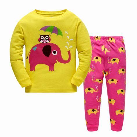 Пижама со слоником, 2-7 лет, цвет желтый