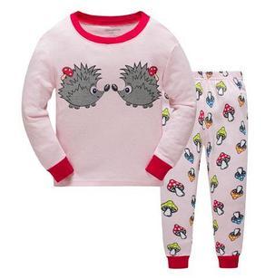 Пижама с ежиками  цвет розовый