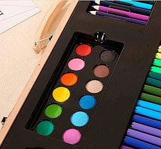 Набор юного художника в деревянном чемоданчике (220 предметов), фото 3