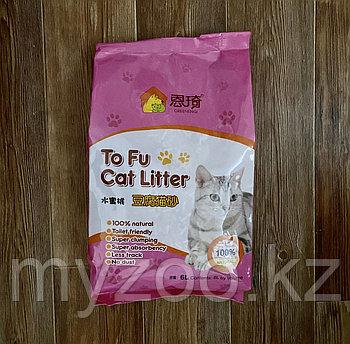Наполнитель ToFu 6 л. персик |Тофу соевый, комкующийся наполнитель 2.5 кг|