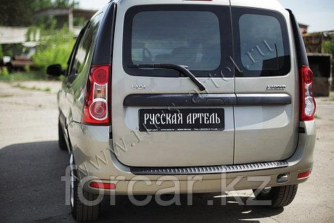Накладка на задний бампер (вар.2) Lada Largus 2012-, фото 2