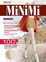 Колготки MINIMI Marseille 100 ден с рельефным геометрическим узором, 5 оттенков