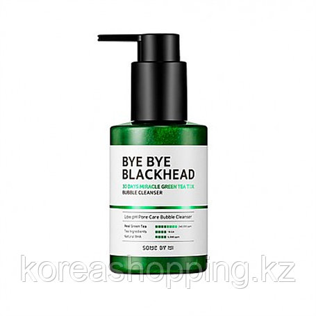 Маска-пенка от чёрных точек BYE BYE BLACKHEAD 30 Days Miracle Green TeaTox Bubble Cleanser, фото 2