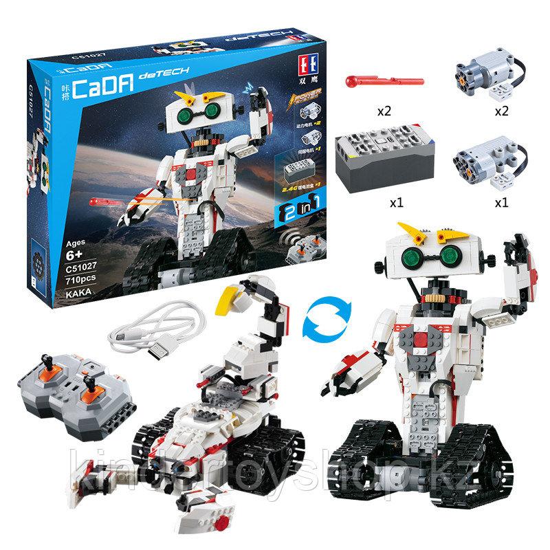Конструктор Double E Cada Technics Робот КАКА - C51027W на радиоуправлении аналог Lego Technic
