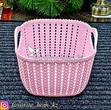 Корзина для хранения, квадратная. Материал: Пластик. Цвет: Розовый.