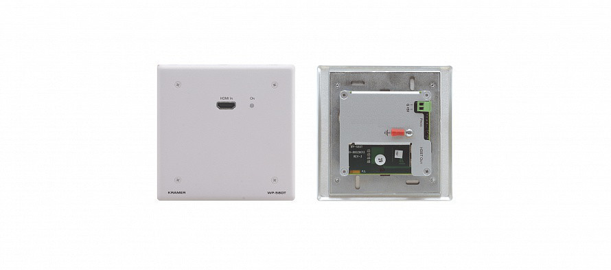 Передатчик Kramer WP-580T/EU(W)-86 HDMI по витой паре HDBaseT; до 70 м  цвет белый