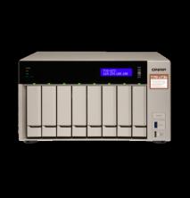 "QNAP TVS-873e-8G Сетевой RAID-накопитель, 8 отсеков 3,5""/2,5"", 2 слота M.2 SSD, 2 HDMI-порта. AMD RX-421BD 2,1"